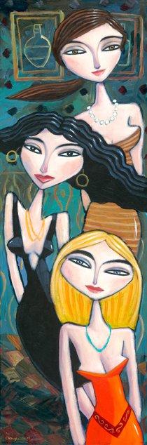 Gemälde dreier Frauen